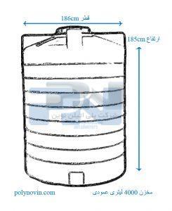 بشکه 4000 لیتری سه لایه ضد جلبک